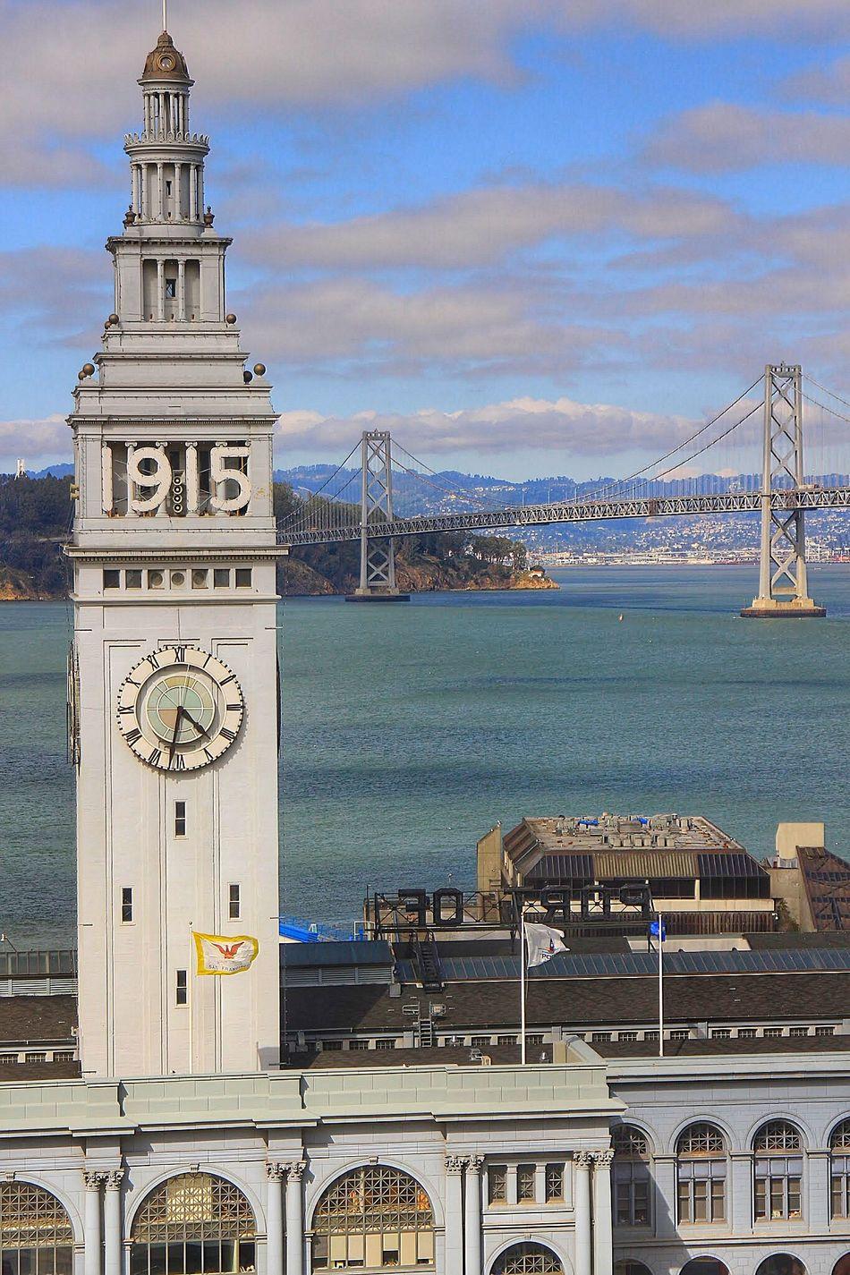 San Francisco Embarcadero Port San Francisco Bay Bridge San Francisco Bay View Tower Waterfront Cityscape Pier