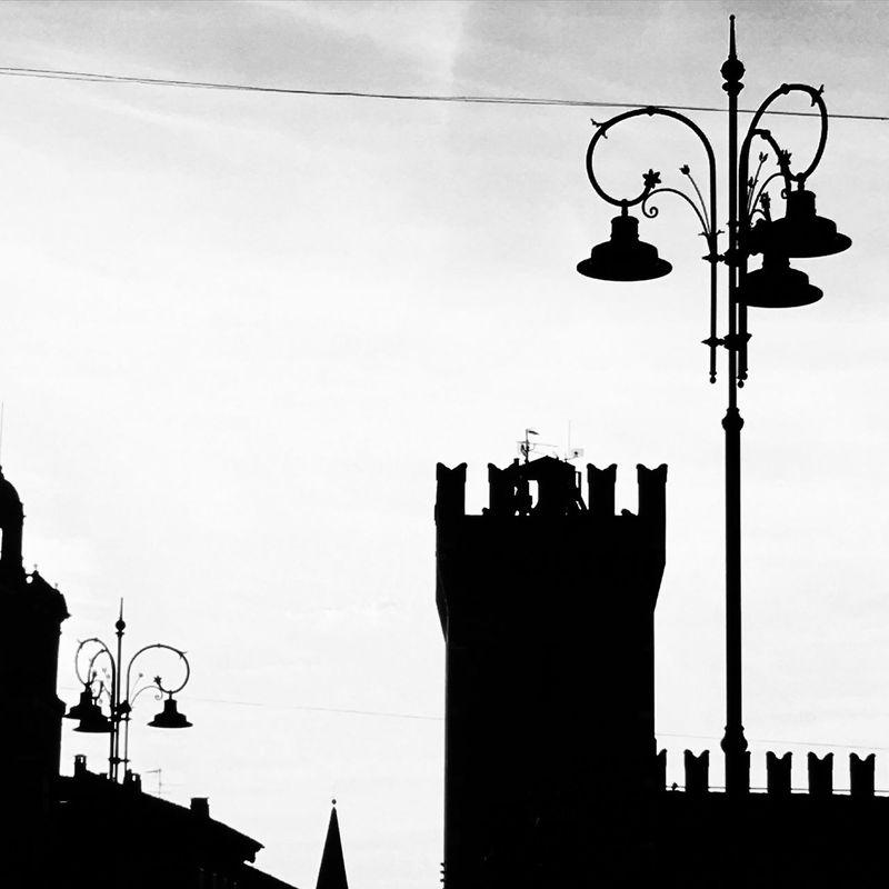 Luci E Ombre Bianco E Nero Blackandwhite Silhouette Silence Peaceful Dusk Street Lamps Sagome Lampioni