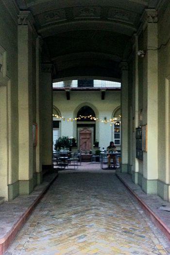 Fekete Coffee Coffee Shop Coffeeshop City Lights Doorway Hallway Corridor