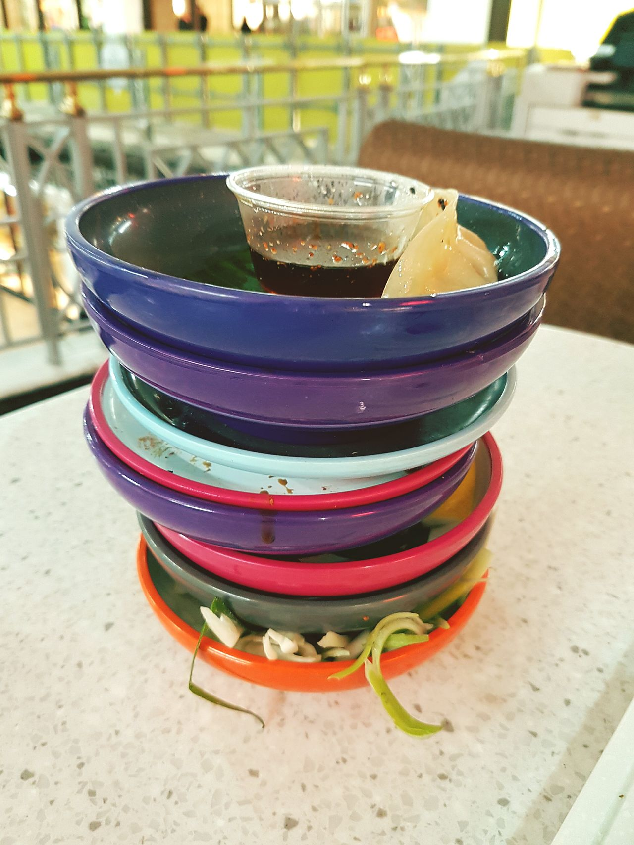 Multi Colored Plates Dishes Food Sushi Yo Sushi Yo! Sushi