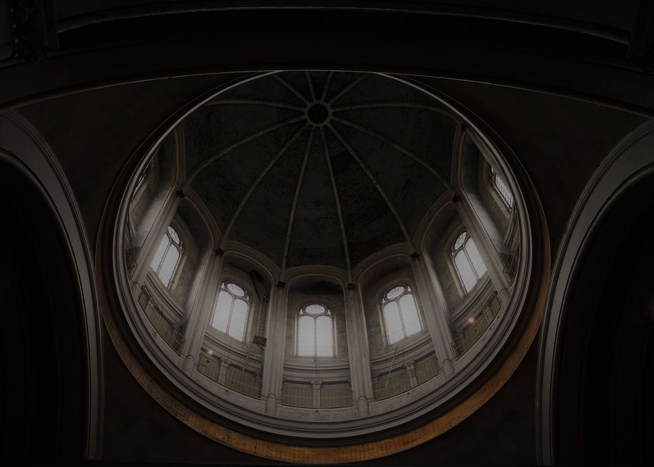 Architecture Built Structure Church Darkness And Light Day Dome From My Point Of View Geometry Indoors  No People