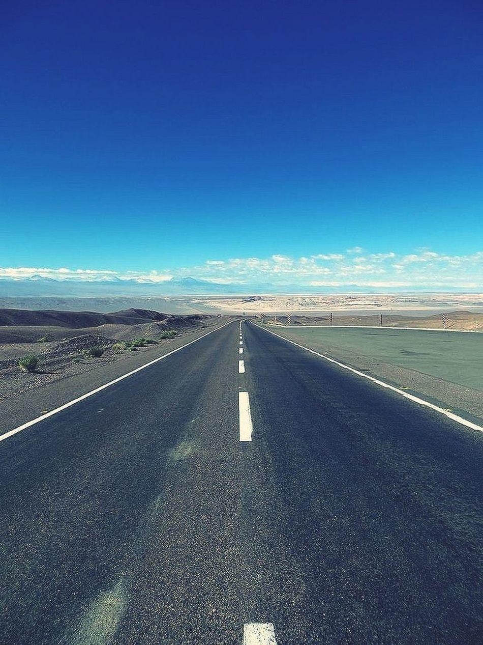 Road Endless Starting A Trip Sunshine