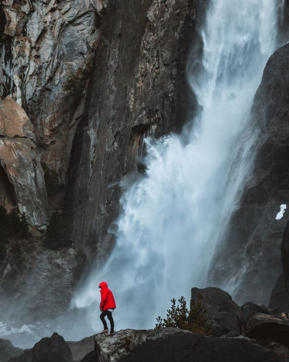 Beautiful stock photos of wasserfall, sky, one person, tree, real people