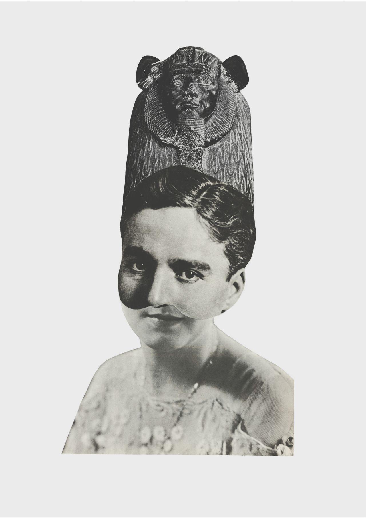 Collage Portrait Monochrome Vintage
