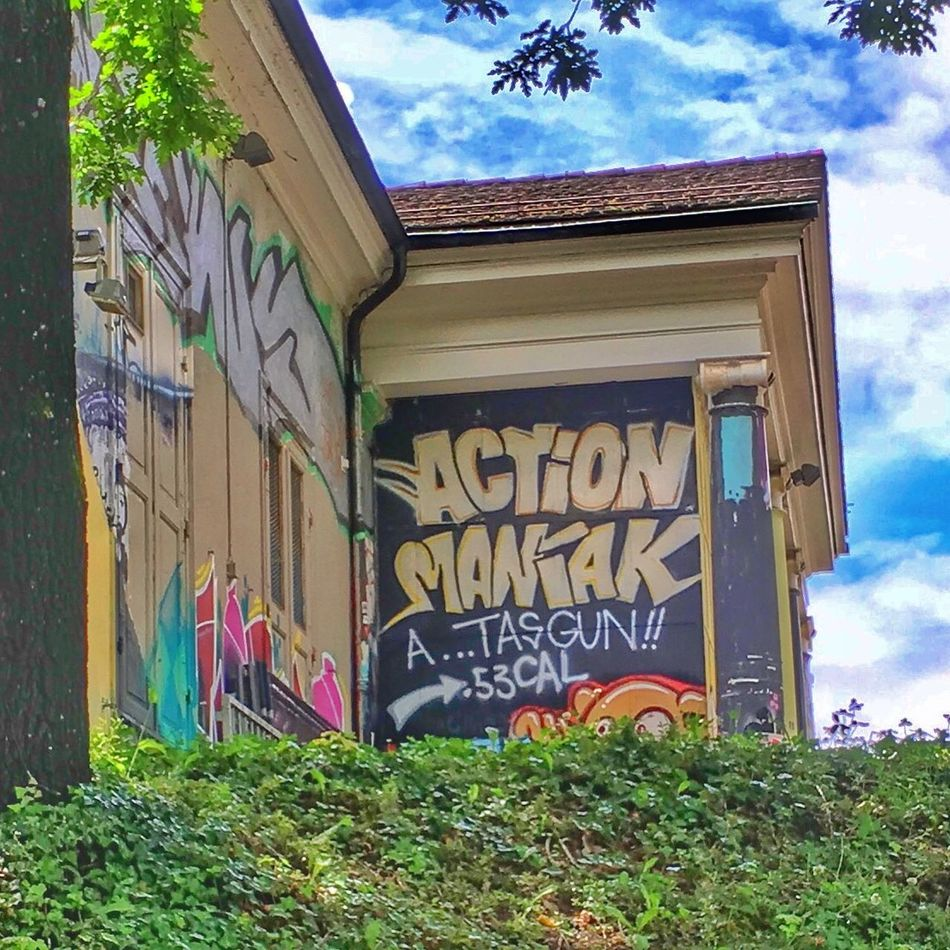 Action ArtWork Colourful Day Graffiti No People Outdoors Sky Spraying Streetart