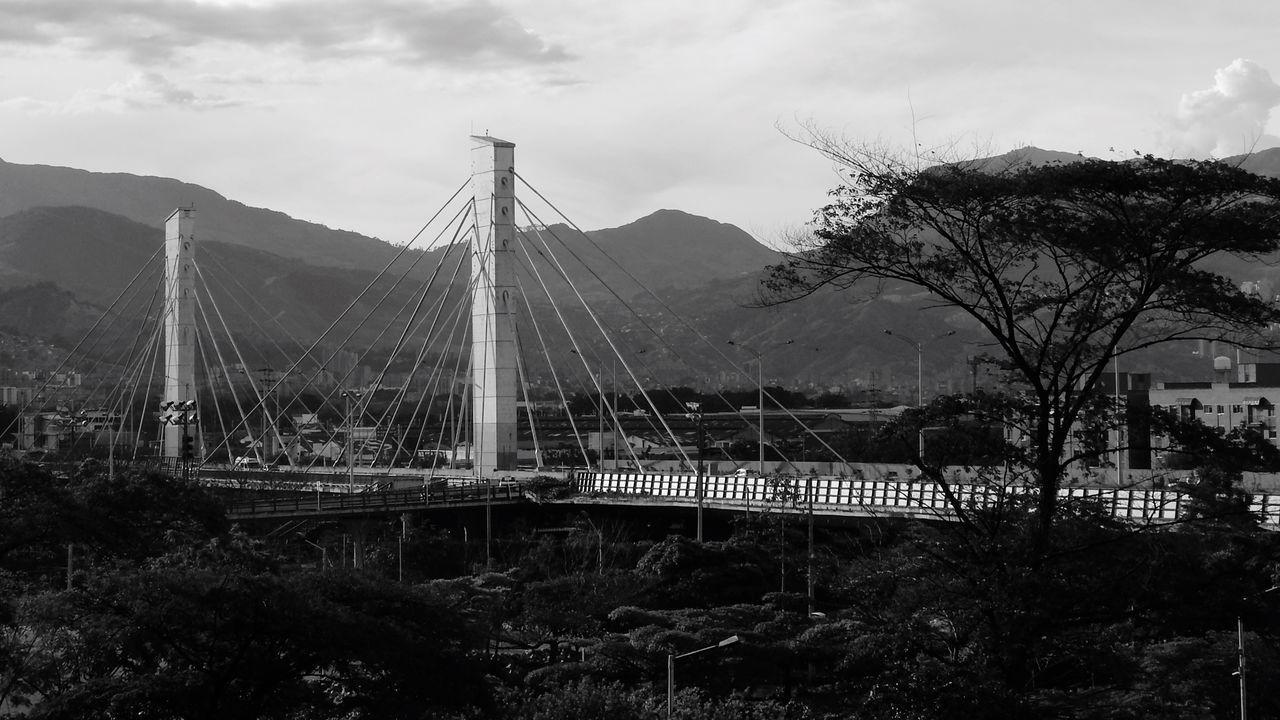 Monochrome Photography Puente De La 4 Sur Medellín