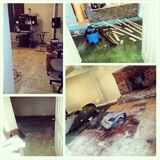 They don't want my problems. All new flooring project underway. This isn't even half of downstairs and I have upstairs plus my second house to complete! Glimpse OverwhelmingLifestyle Moneypit MakeItWorkForU