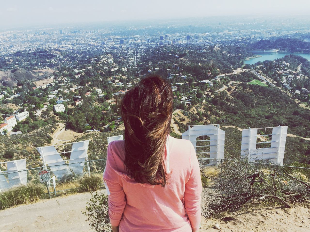 Above the Hollywood sign The Great Outdoors - 2016 EyeEm Awards Shootermag_usa California View From Above Views Hollywood Hollywood Sign Girl Power Feel The Journey