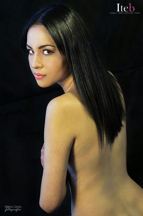 Model Portrait Amazing Eyes Nudels Naked Back Desnudo Desnudo Artistico Make Up