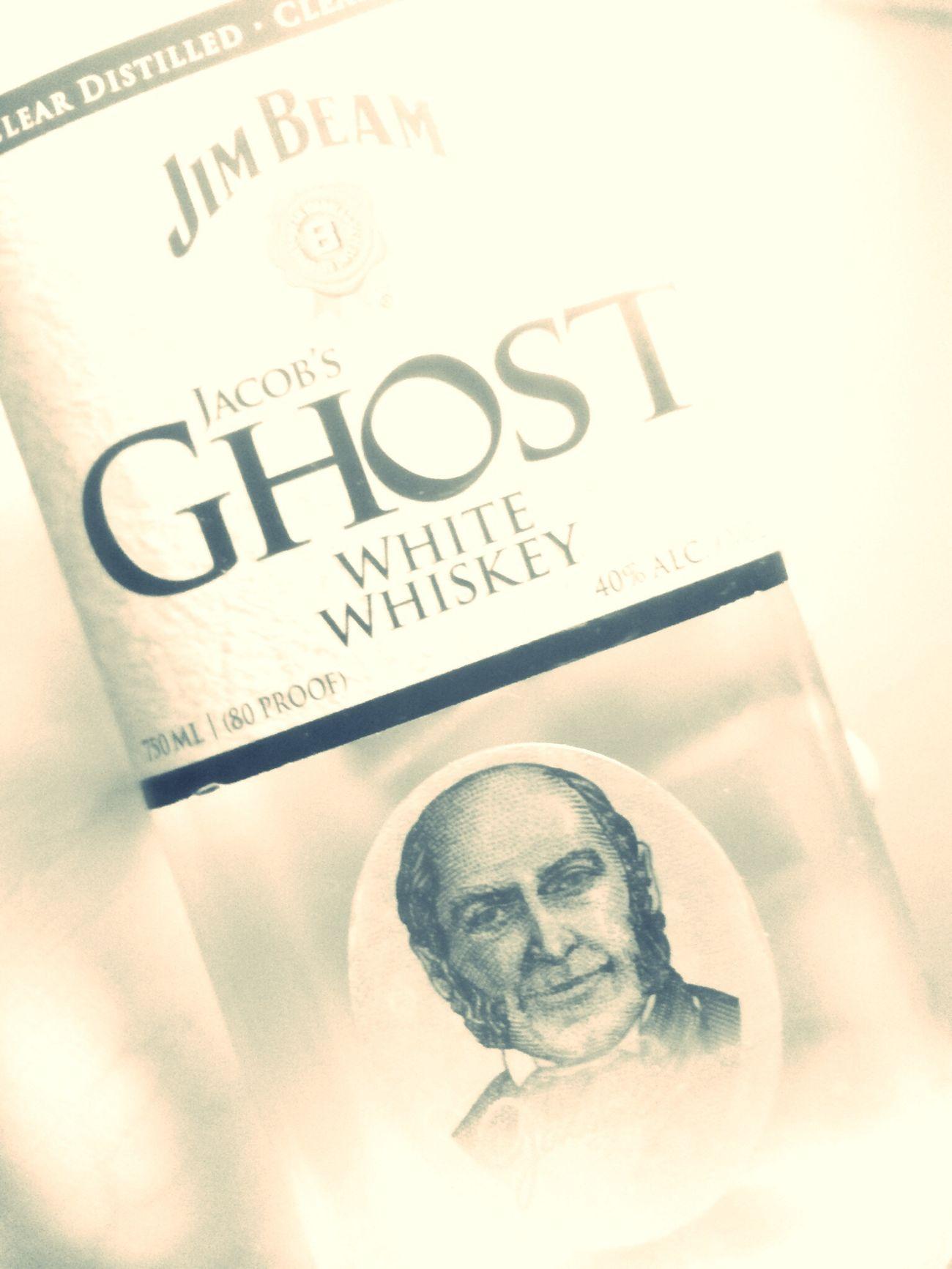 bottoms-up Spirit Ghost Jim Beam Whiskey