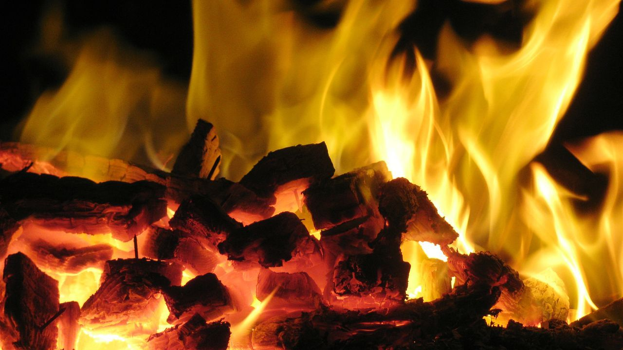 fire - natural phenomenon, burning, flame, heat - temperature, glowing, orange color, night, bonfire, motion, no people, wood - material, outdoors, close-up