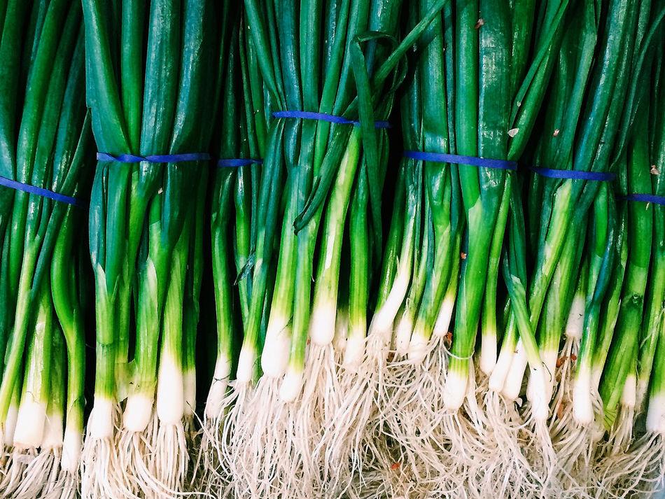 Spring Onion Scallions Vegetables Food Market