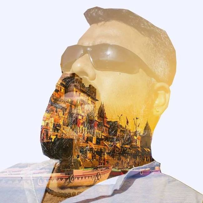 Spirituality Human Face Creativity Tranquility Doubleexposure Double Exposure Varanasi, India Ganges, Indian Lifestyle And Culture, Bathing In The Ganges, Varanasi Ganges Varanasi Ghats