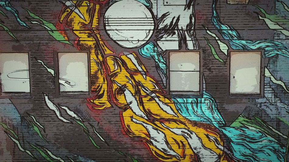 Art Is Everywhere Graffiti Built Structure No People Architecture Day ArtWork RVA Mural Art Hands Building Exterior Signage