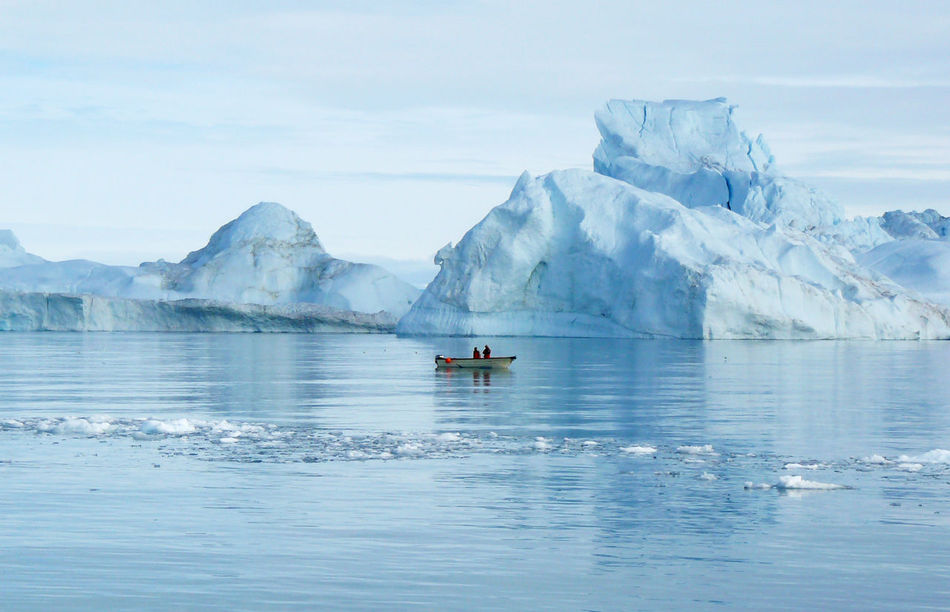 Beauty In Nature Day Fisherman Greenland Ice Iceberg Iceland Nature Ocean Sea Seascape Sky