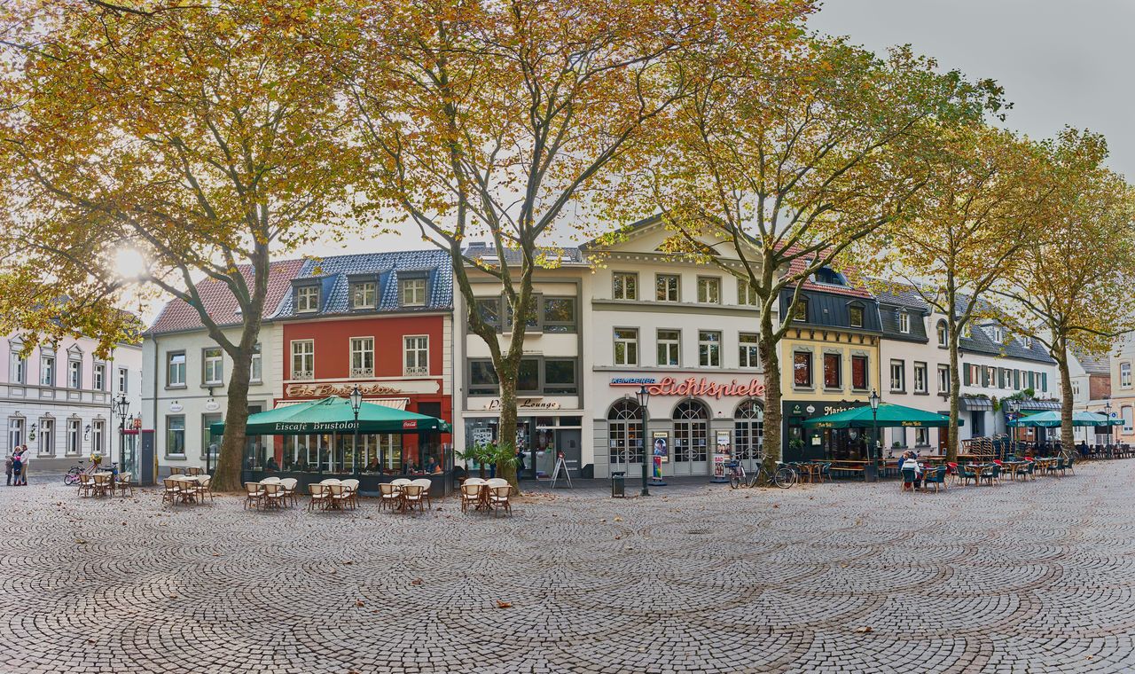 KEMPEN, GERMANY - OCTOBER 26, 2016: The central marketplace builds an attracive spot for visitors. Atmospheric Mood Christanity Colorful Downtown Germany Heritage High Resolution Historic City History Light Love Market Medieval Outdoors People Relaxing Shopping Travel Destination Urban