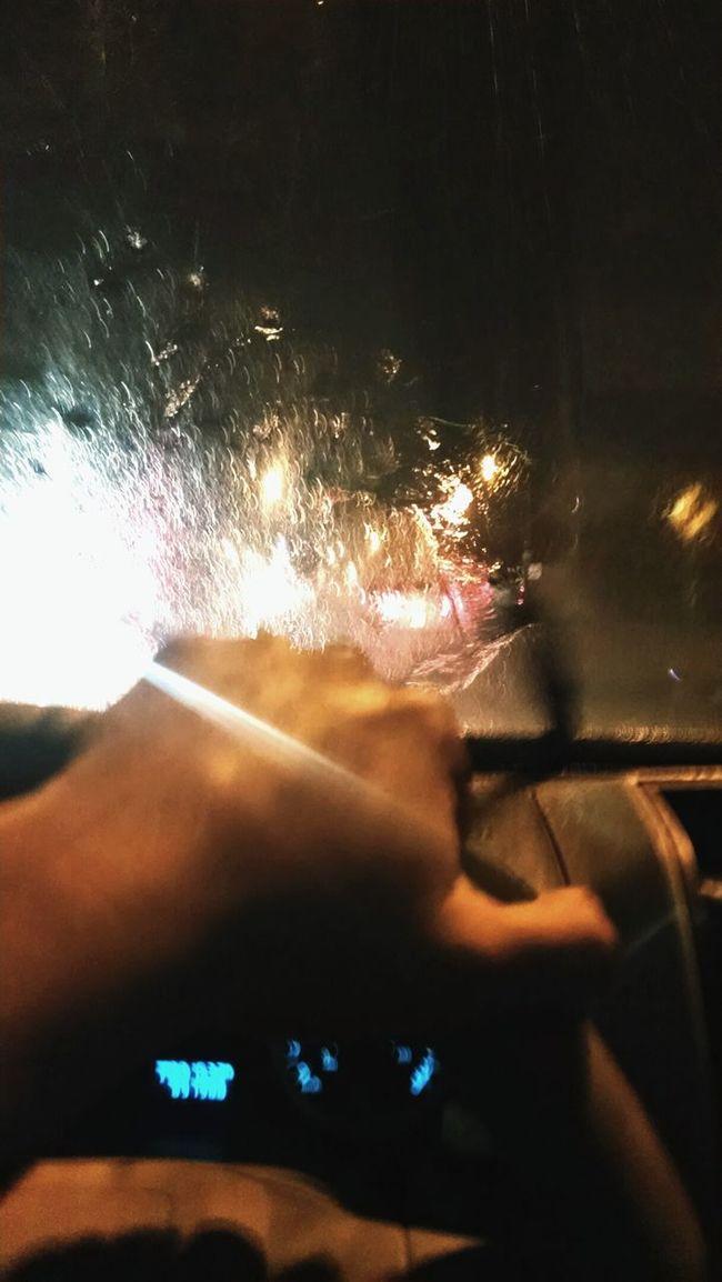 Driving Monterrey, México 120kph Raining Day