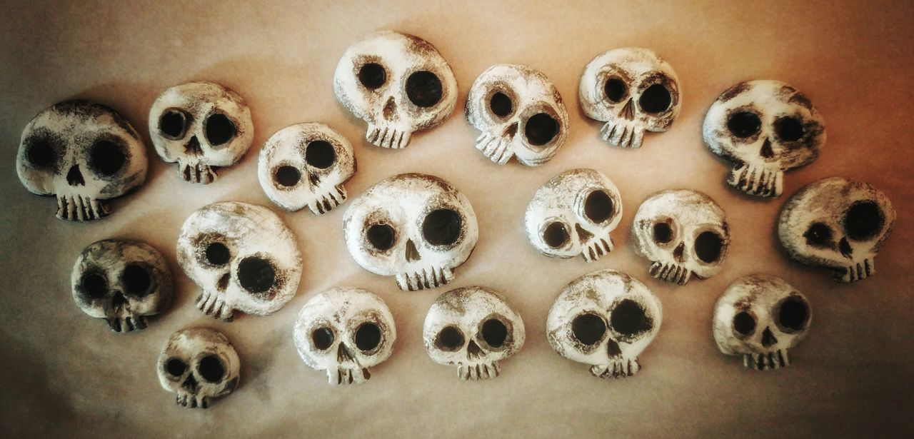 EyeEm Selects Skulls Matishtar Designs Matishtar Arts And Crafts Craft Work Clay Clay Work Skull Art Large Group Of Objects No People Studio Shot Shape Close-up