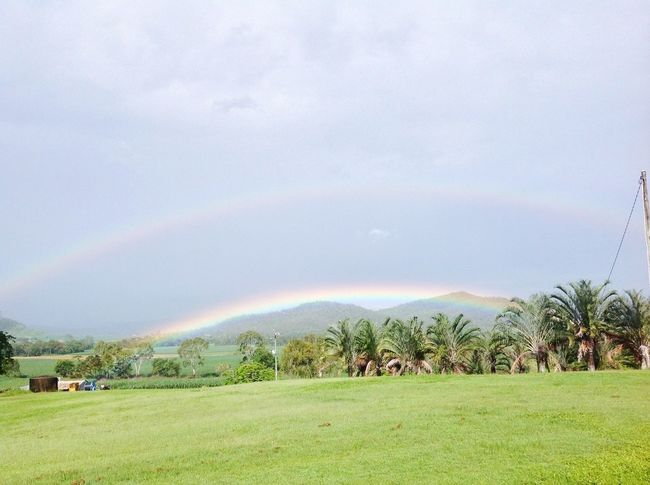 Nature Double Rainbows Rainbow Landscape Tranquil Scene Beauty In Nature Sky
