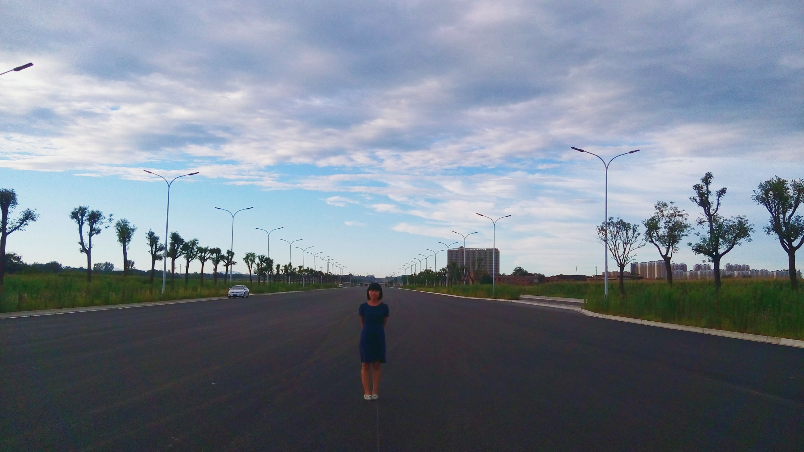 flying, sky, cloud - sky, mid-air, transportation, the way forward, bird, road, cloud, cloudy, road marking, full length, lifestyles, animal themes, diminishing perspective, street, leisure activity, animals in the wild