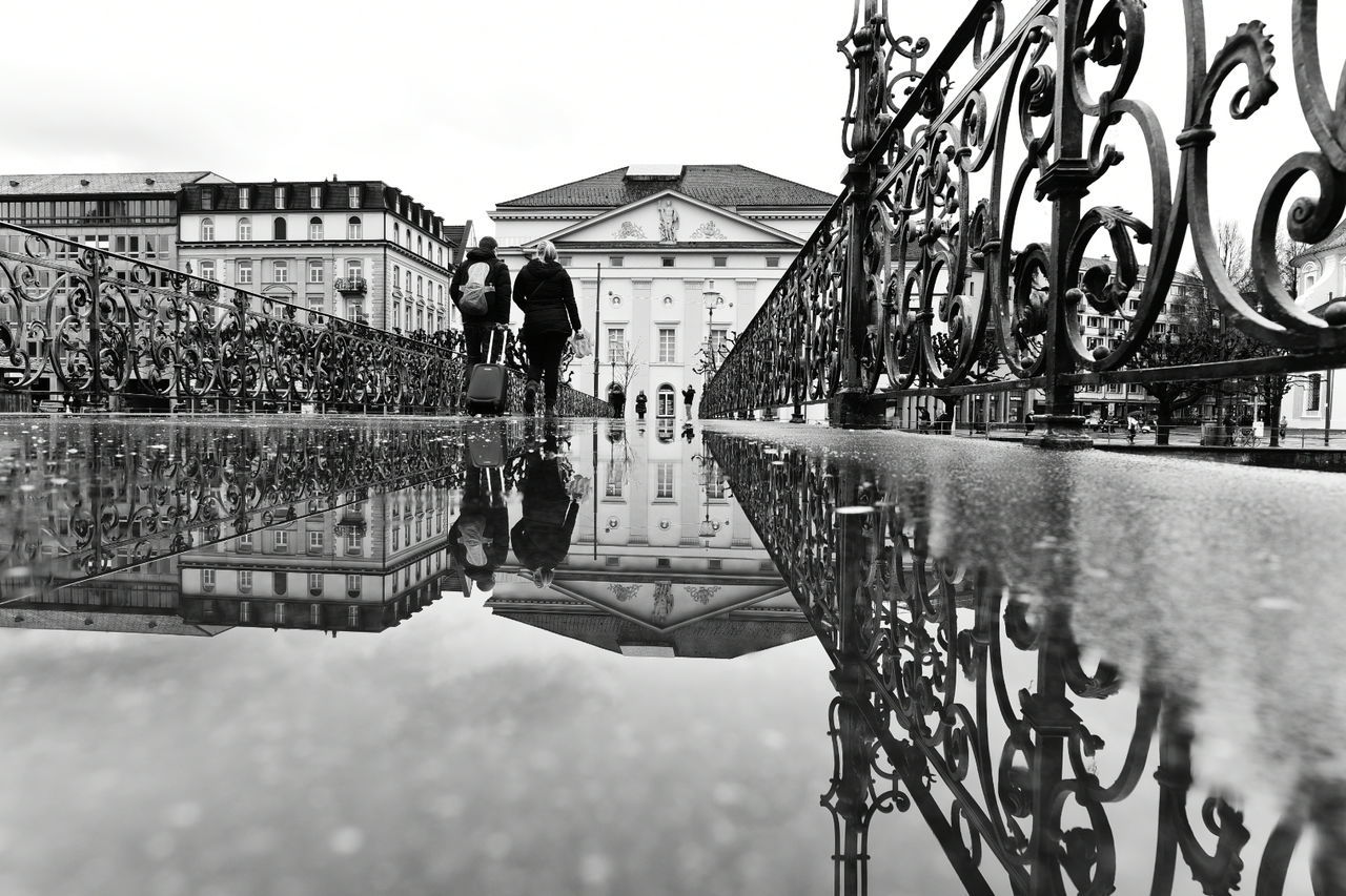 Taking Photos Switzerland It's Cold Outside Nikon Bridge Nikon D750 City Black & White Water Rain Reflection Blackandwhite Luzern Swiss Luzern EyeEm Best Shots Monochrome Photography