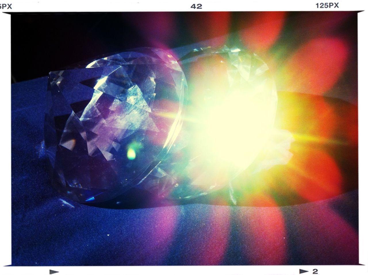 Close Up Of Backlit Gems