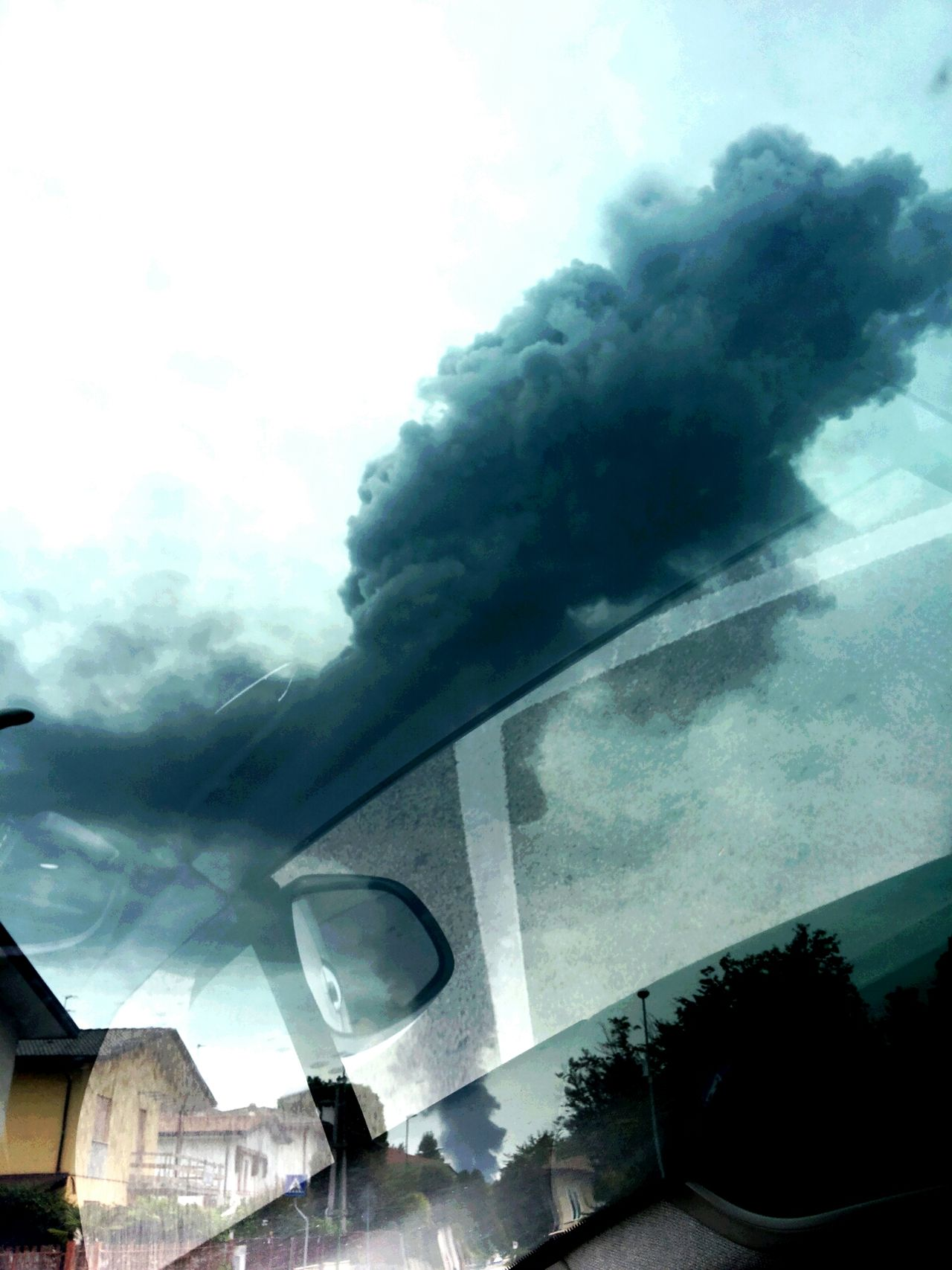 Photographic Memory Fire In My Town Driving Back Home In My Car Dark Sky Just Smoke And Not Clouds