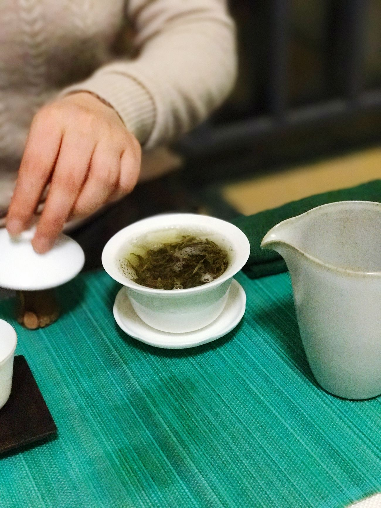Green Tea Food And Drink One Person Cultures Tea - Hot Drink Indoors  Drink Holding Lifestyles Tradition Close-up Human Hand Tea Ceremony Healthy Eating