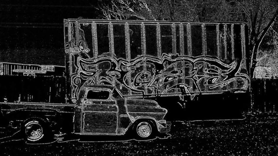 303magazine Art By Ro ArtWork Automobile Autoportrait Clasic Cars Classic Cars Classy Colorado Denver Illistrated Land Vehicle Mode Of Transport No People Outdoors Semi Stealing Legal Trailer Transportation Truckinglife Wheels
