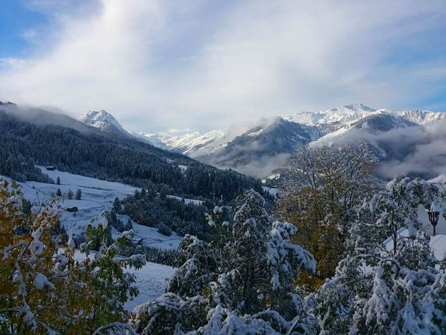 Mountains And Sky Cold Temperature Weather Winter Season  Snow Beauty In Nature