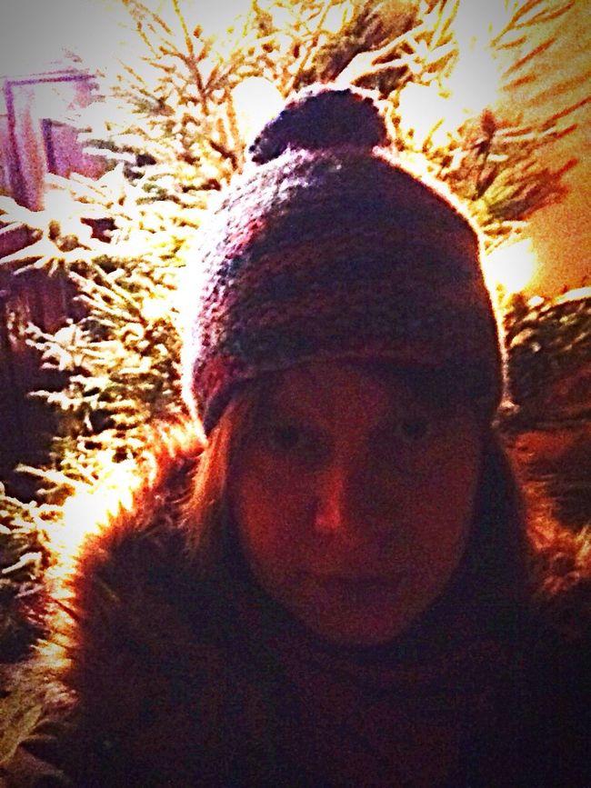 Selfie Wintertime Holidays New Cap Mütze Night Lights