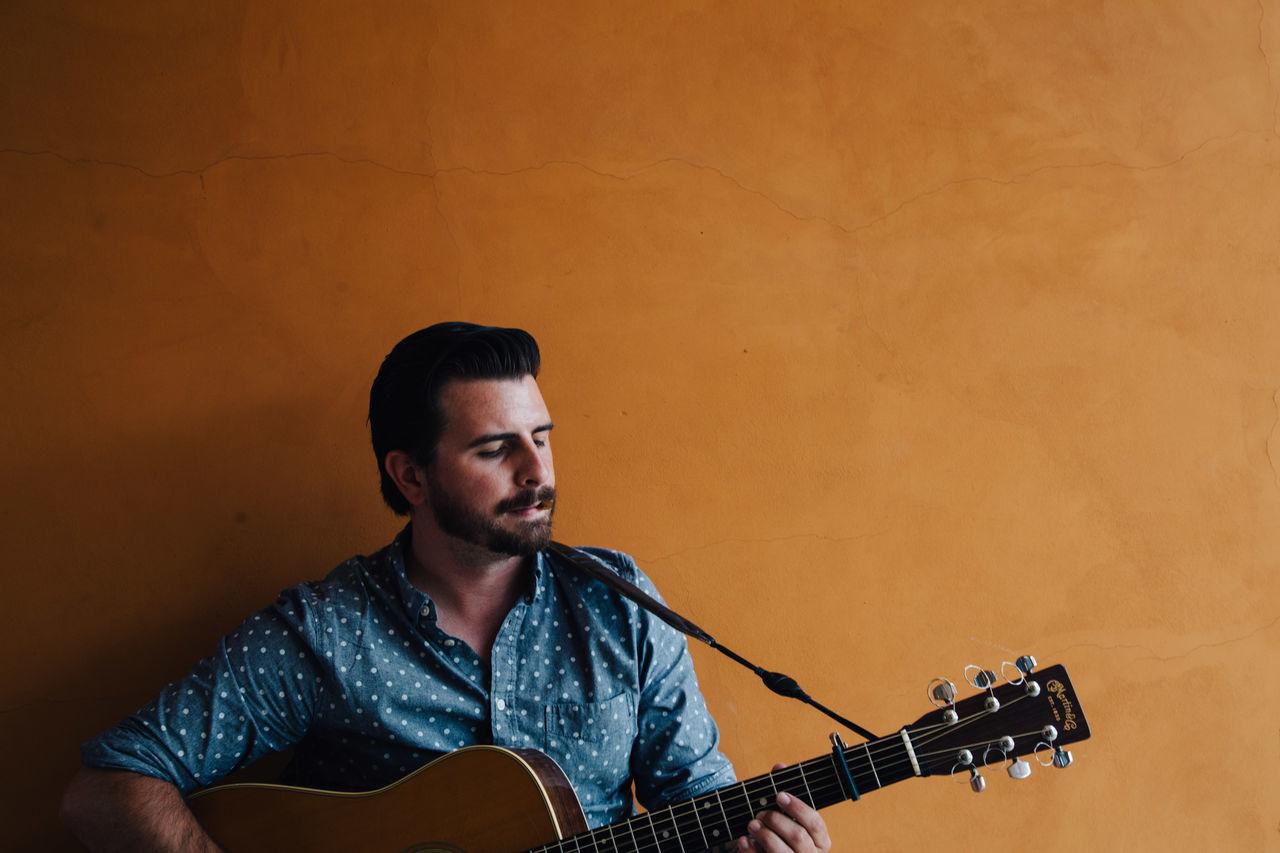 Beautiful stock photos of gitarre, music, only men, musical instrument, musician