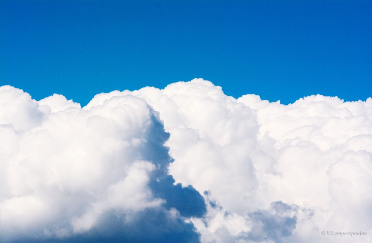 Cloud - Sky Sky Nature Blue Fluffy Low Angle View Cloudscape Tranquility White Color Scenics Day Cumulus Cloud Backgrounds Beauty In Nature No People Softness Sky Only Outdoors