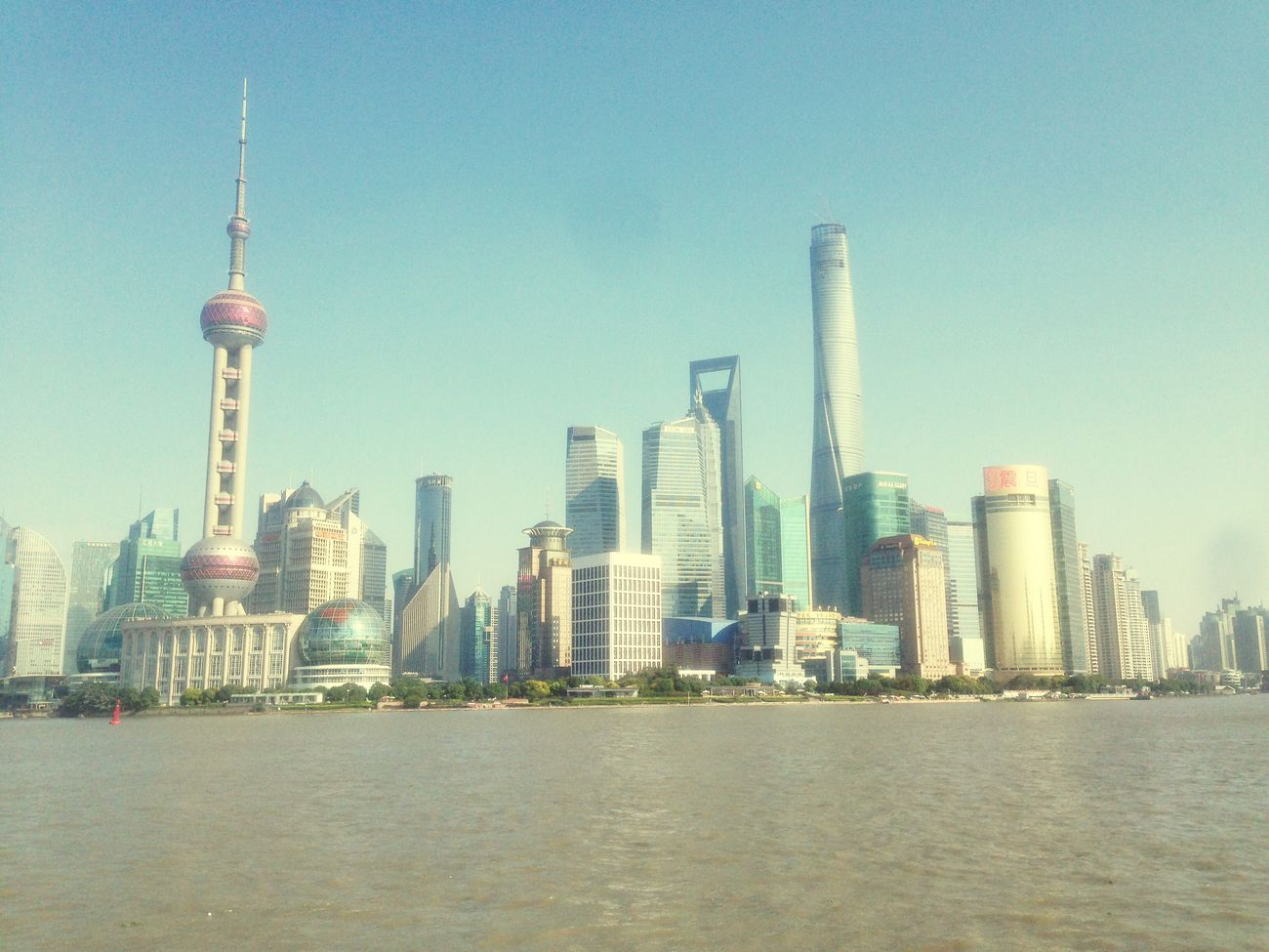 Beautiful skyline Shanghaibund Shanghai Skyline