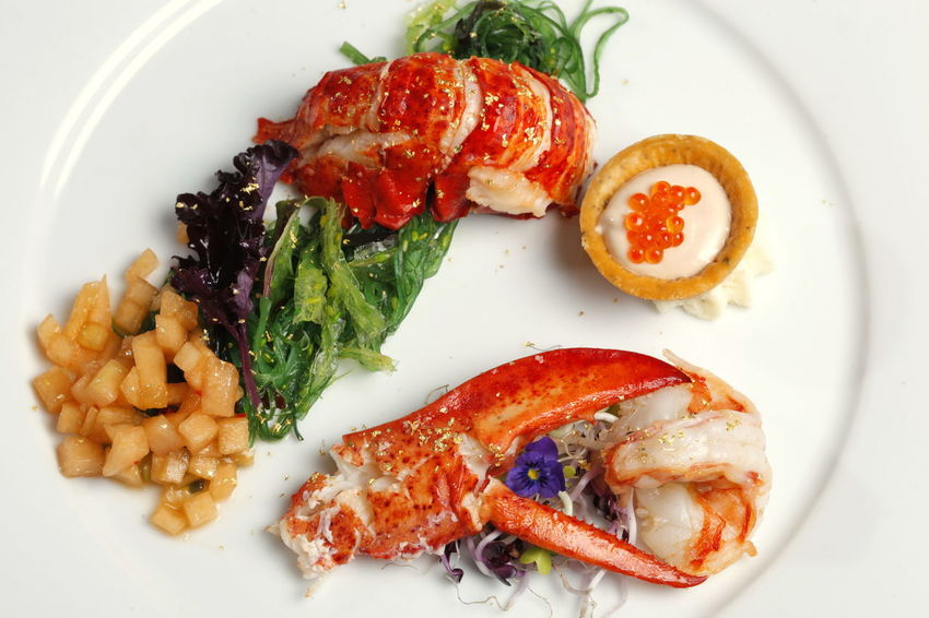Dinner Gold Lobster Caviar Claw Close-up Day Directly Above Food Food And Drink Freshness Healthy Eating Indoors  No People Plate Ready-to-eat Seafood Vegetables