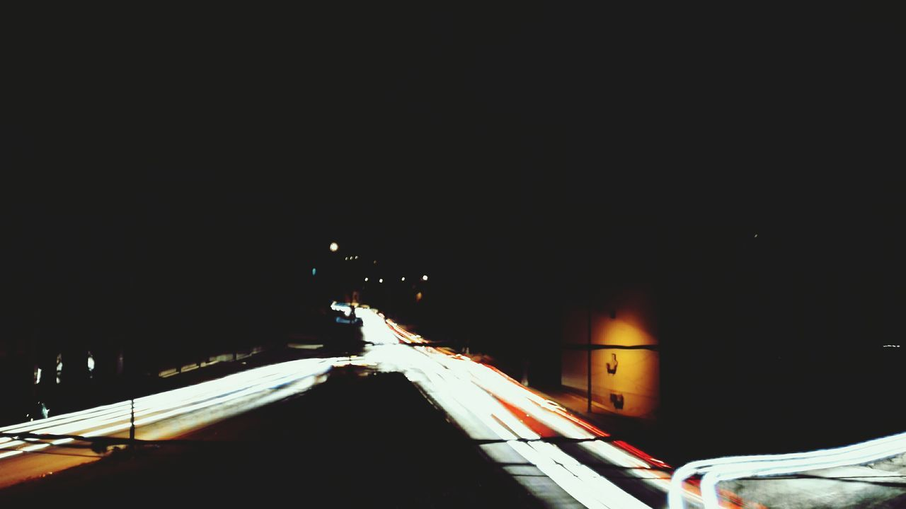 Long Exposure Car Transportation Winter Night Mode Of Transport Cold Temperature Illuminated Road Snow Ice Hockey Outdoors City No People