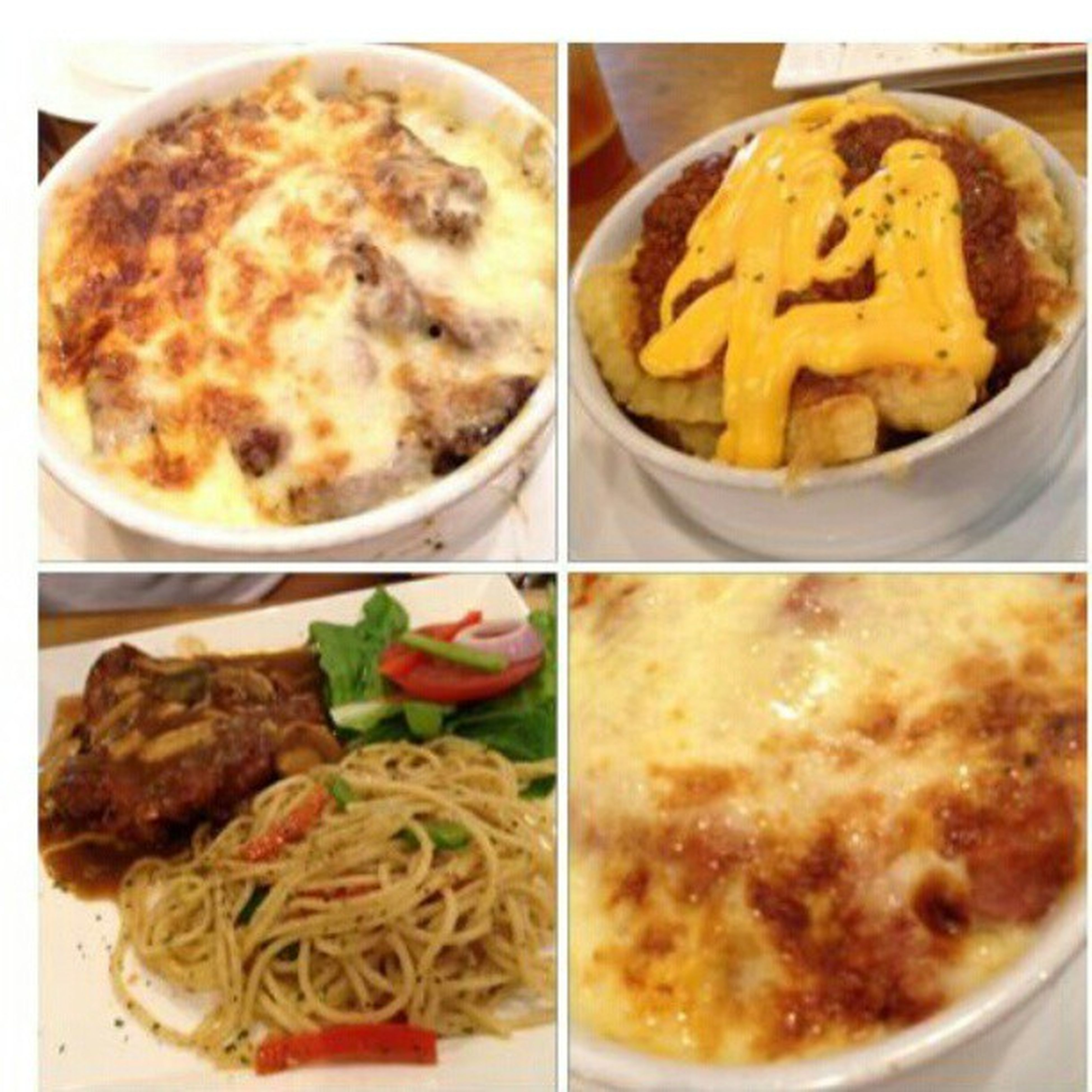 Dinner 18chefs Bakedrice Cheese pasta chickenchop fries bolognese foodies @kelvjiawei @lavinz