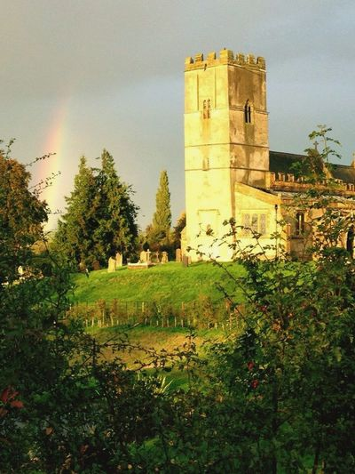 Pretty rainbow....village life...calm before the storm 💦⚡️☔️⛪️ Hello World Taking Photos