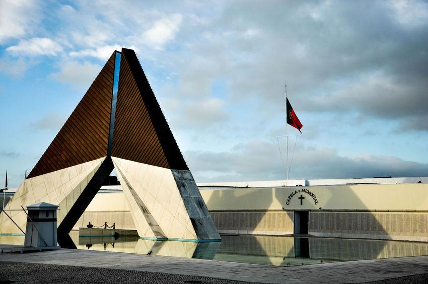 Architecture Building Exterior Built Structure Cloud - Sky Day Flag No People Outdoors Patriotism Sky