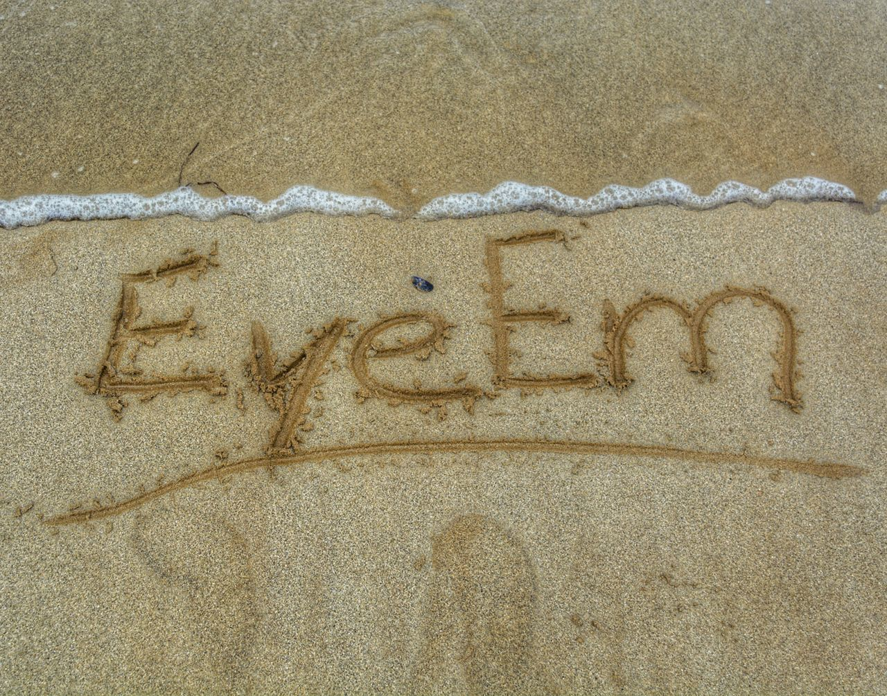 sand, beach, text, single word, communication, message, no people, day, outdoors, nature, close-up