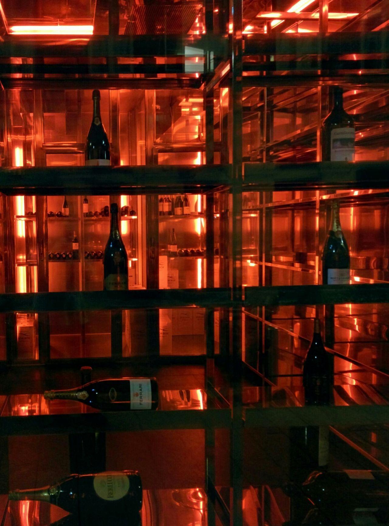 Fridge Champagne Berlucchi Ferrari Spumante Cold Room Merchandising Exposition