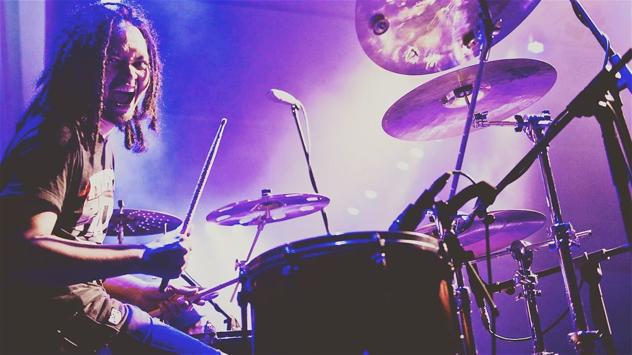 ...feel the beat Drummer Hello World EyeEm Best Edits OpenEdit Agung Yudha Asmara Dewa19 Concert Photography Indonesia_allshots EyeEm Indonesia Color Explosion