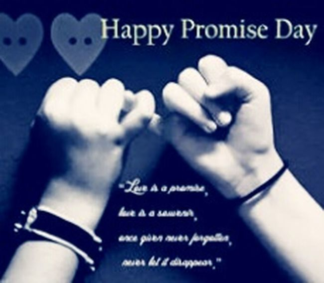 Lovely day in this month today is promise day