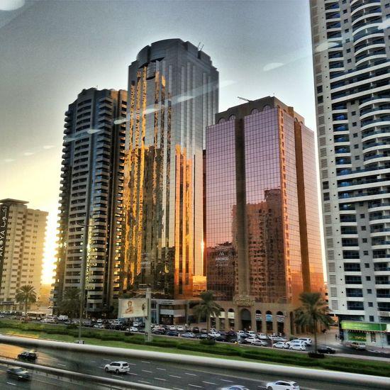 Dubai Sunset Beautiful Metro