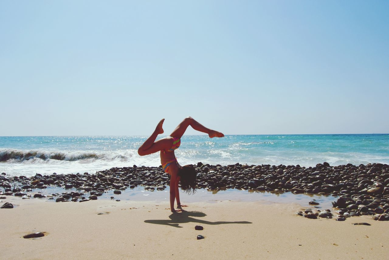 Beautiful stock photos of yoga, Balance, Beach, Bikini, Calm
