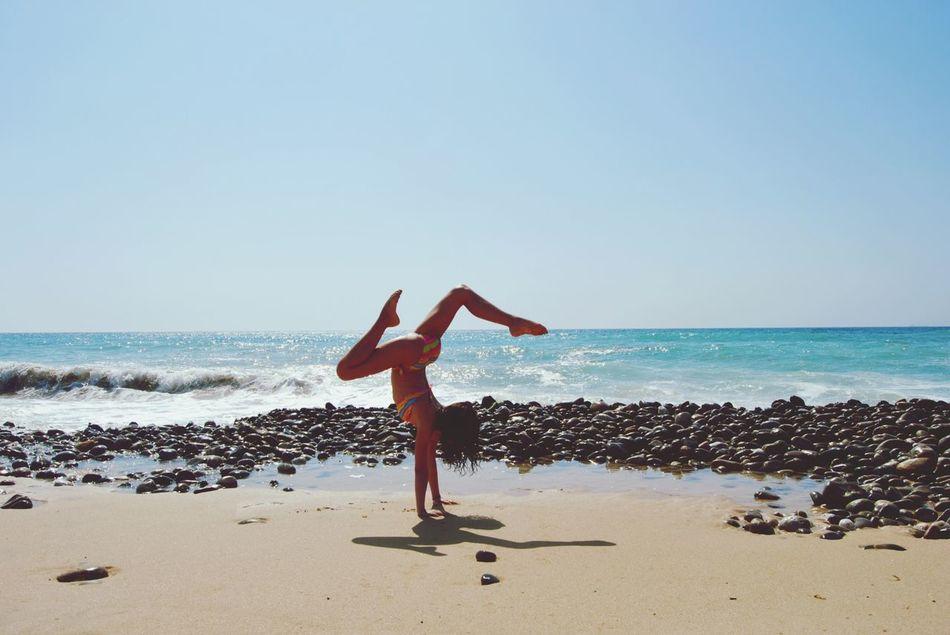 Beautiful stock photos of yoga, Balance, Beach, Bikini, Calm