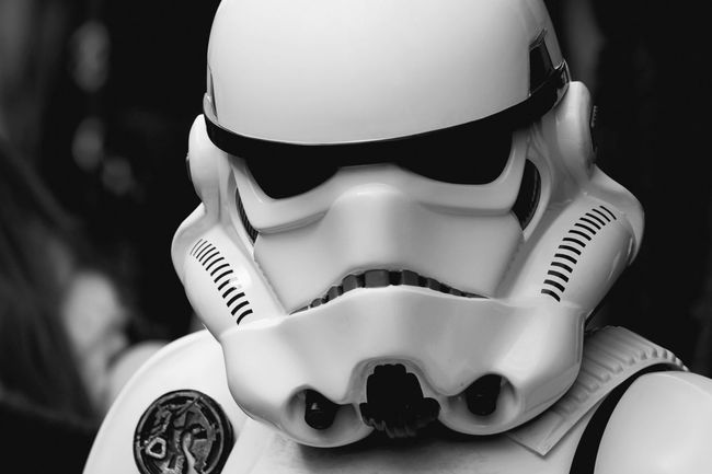 Close-up Portrait Unrecognizable Person Mask Mask - Disguise Disguise Day Black And White Science Fiction Sci-fi Starwars Fan Fantasy Actor Portraits Portraiture EyeEm Best Shots Helmet Stormtrooper Stormtroopers Star Wars Characters
