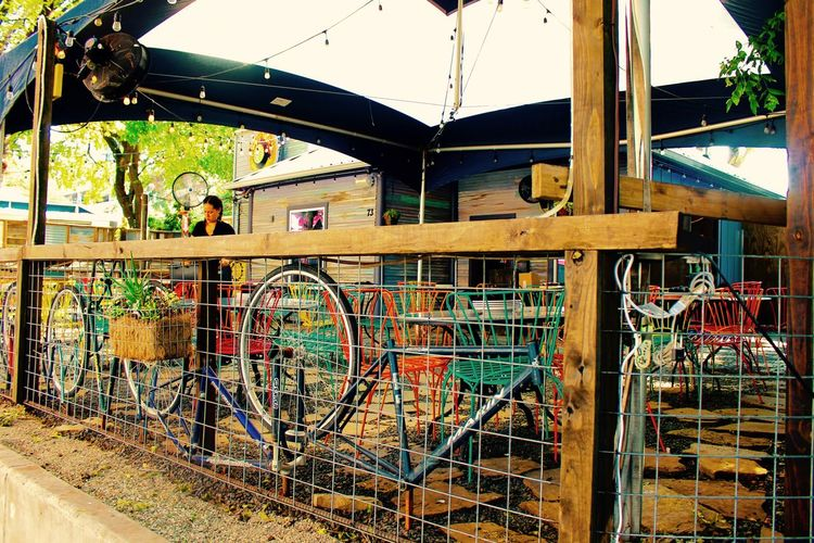 Austin Texas Built Structure Fun Spots Funky Places Outdoor Bar Restaurant Social Gathering First Eyeem Photo