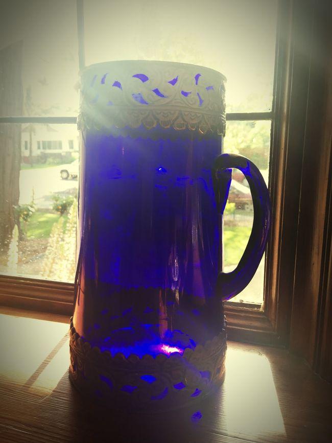Beer Mug Blue Glass