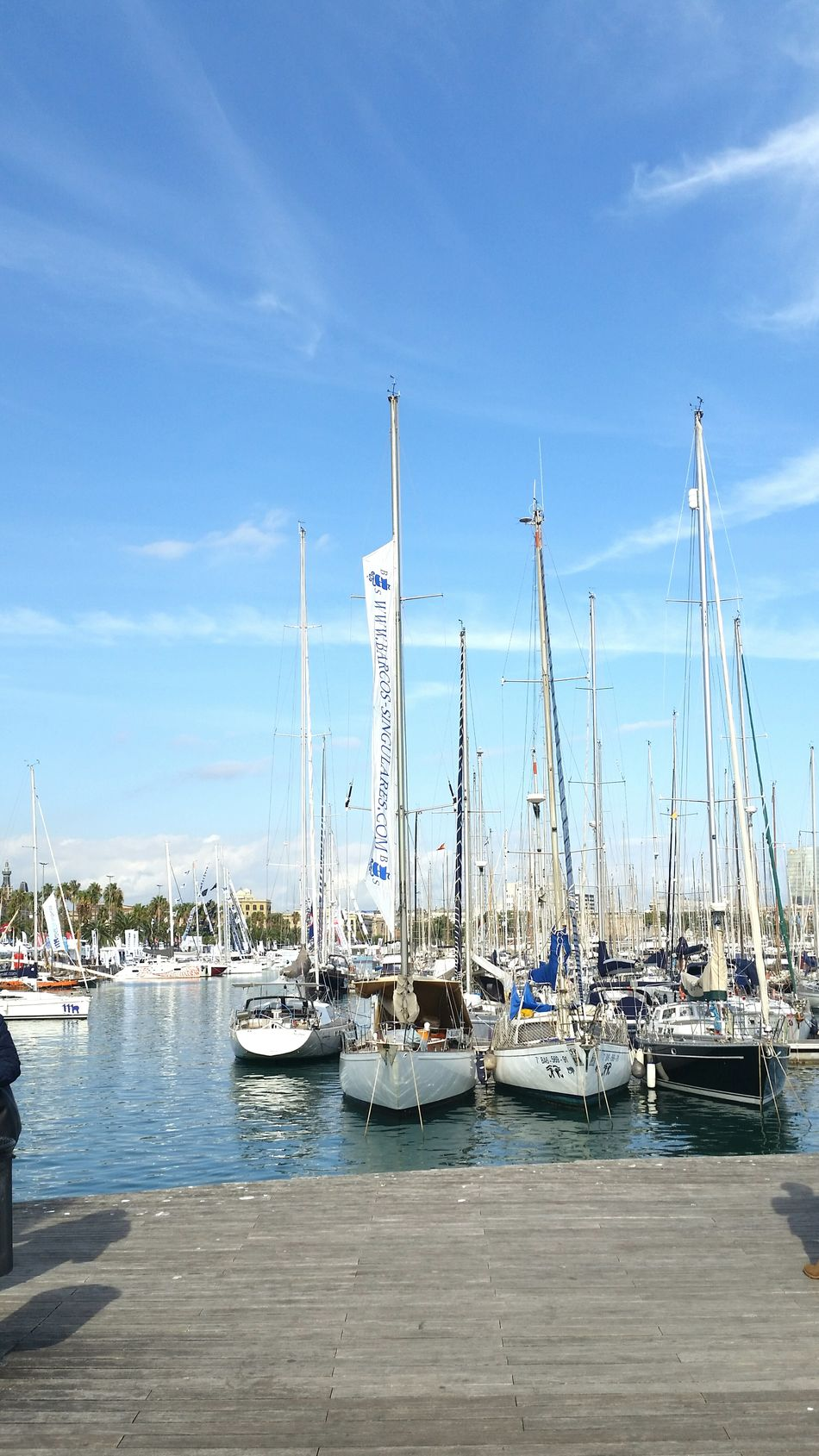 Barcelona sails Harbor Sky Water Sailboat Sea